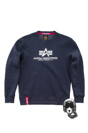 Bluza ALPHA INDUSTRIES BASIC SWEATER Granatowa