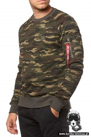 Bluza ALPHA INDUSTRIES X-FIT Sweat Moro Woodland