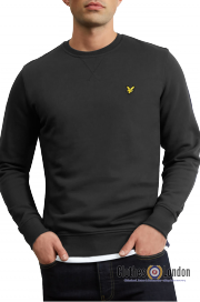 Bluza LYLE & SCOTT Crew Neck Basic czarna