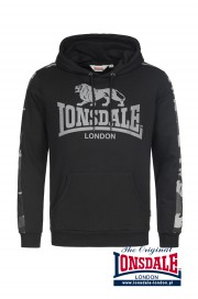 Bluza z kapturem LONSDALE LONDON SANTLEY Czarna