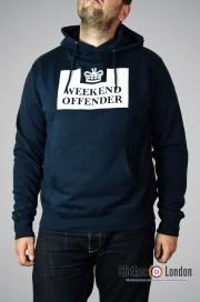 Bluza z kapturem Weekend Offender HM Service Ciemnogranatowa