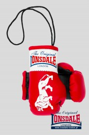 Brelok na lusterko LONSDALE LONDON Mini Gloves Czerwony