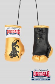 Brelok na lusterko LONSDALE LONDON Mini Gloves Złoty