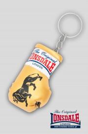 Brelok na klucze LONSDALE LONDON Mini Gloves Keyring Złoty