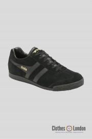 Zamszowe buty GOLA HARRIER CASUAL TRAINERS czarno-czarne