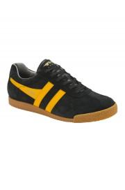 Zamszowe buty GOLA HARRIER CASUAL TRAINERS czarno-żółte