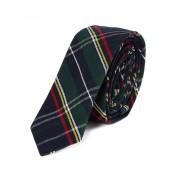 Krawat w szkocką kratę HARRINGTON  granatowy