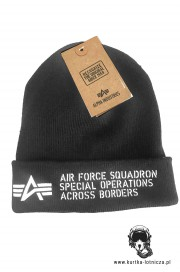 Czapka zimowa ALPHA INDUSTRIES AIR FORCE Czarna