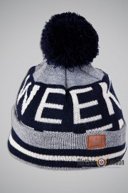 Czapka zimowa Weekend Offender Stripe Bobble Hat Szara