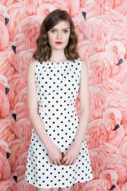Sukienka POP BOUTIQUE DOTTY biała
