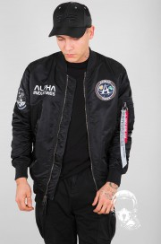 Kurtka Alpha Industries MA-1 Moon Landing Reversible czarna