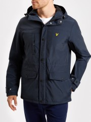 Kurtka LYLE & SCOTT MICROFLEECE LINED JACKET granatowa