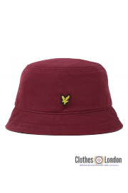 Kapelusz LYLE & SCOTT TWILL BUCKET HAT Bordowy