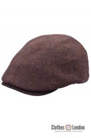 Kaszkiet HIGHLANDS EA TWEED FLAT CAP brązowy