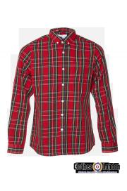 Koszula z długim rękawem w szkocką kratkę HARRINGTON czerwona