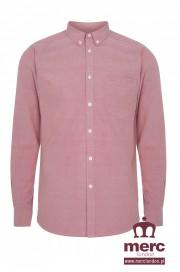 Koszula z długim rękawem MERC LONDON HARBY OXFORD Czerwona
