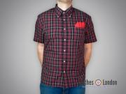 Koszula z krótkim rękawem Brutus Trimfit Czerwono Czarna