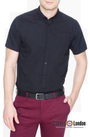 Koszula z krótkim rękawem MERC LONDON BAXTER Czarna