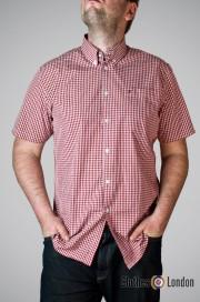 Koszula z krótkim rękawem Merc London Terry Bordowa