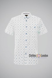 Koszula z krótkim rękawem Merc London Welor Biała