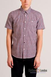 Koszula z krótkim rękawem WEEKEND OFFENDER ROSCOE czerwona