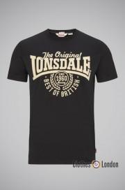 T-shirt Lonsdale London Bethersden Czarny