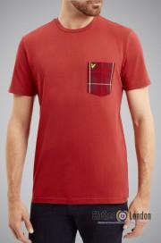 T-Shirt LYLE & SCOTT POCKET czerwony