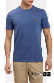 T-Shirt LYLE & SCOTT CREW NECK niebieski