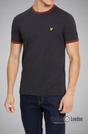 T-Shirt LYLE & SCOTT RINGER Czarny