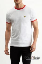 T-Shirt LYLE & SCOTT RINGER Biało-czerwona