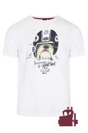 T - Shirt MERC LONDON BOWIE BULLDOG biały