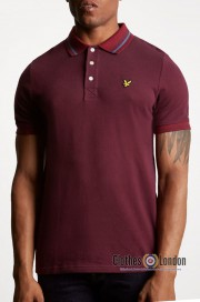 Koszulka polo LYLE & SCOTT TIPPED Oxford Bordowa