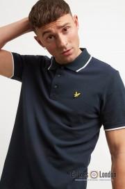 Koszulka polo LYLE & SCOTT TIPPED Oxford Granatowa