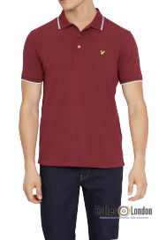 Koszulka polo LYLE & SCOTT TIPPED Bordowa