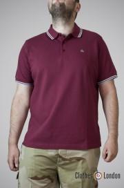 Koszulka Polo Merc London Card Bordowa