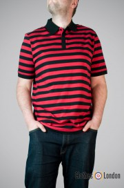 Koszulka Polo Merc London Laguna czarno - czerwona