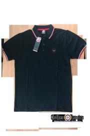 Koszulka POLO WARRIOR CLOTHING Czarno - biało - czerwona