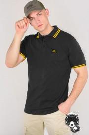Koszulka Polo ALPHA INDUSTRIES Twin Stripe Polo II Czarno - żółta