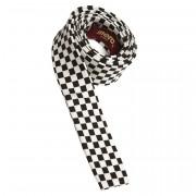 Krawat MERC LONDON DAM CHECK czarno-biały