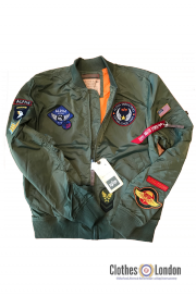 Kurtka ALPHA INDUSTRIES MA-1 TT PATCH oliwkowa