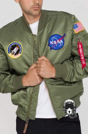 Kurtka ALPHA INDUSTRIES MA 1 VF NASA oliwkowa
