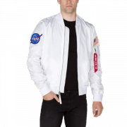 Kurtka ALPHA INDUSTRIES MA 1 TT NASA REVERSIBLE biała