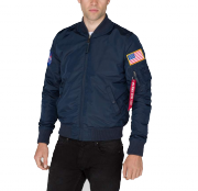 Kurtka ALPHA INDUSTRIES MA 1 TT NASA REVERSIBLE granatowa