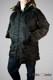 Zimowa kurtka Parka N3B Max Fuchs Czarna
