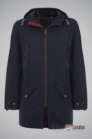 Parka  MERC LONDON BUCKLEY granatowa