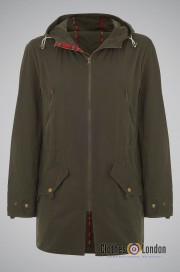 Parka  MERC LONDON BUCKLEY oliwkowa