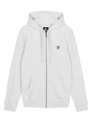 Rozpinana bluza z kapturem LYLE&SCOTT ZIP THROUGH HOODIE szara