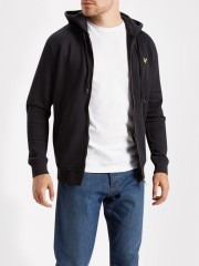 Rozpinana bluza z kapturem LYLE&SCOTT ZIP THROUGH HOODIE czarna