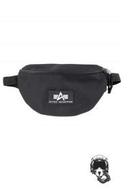 Nerka ALPHA INDUSTRIES RUBBER PRINT Waistbag Czarna (