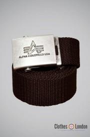 Pasek materiałowy z metalową klamrą Alpha Industries Brązowy